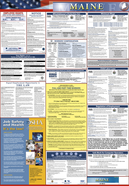 Combined Maine Federal Laminated Poster