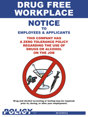 Drug Free Workplace Poster